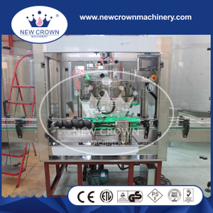 Linear type aluminum pop can filling seaming machine