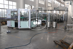 Monoblock 5 in 1 Juice Washing Filling Capping Machine for Glass Bottle with Aluminum Screw Cap