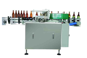 Auto glass bottle paper labeling machine